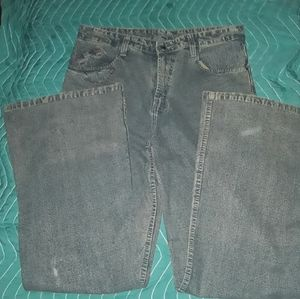 DRUGGERS SIZE 32-32 RELAXED WIDE LEG BLUE JEANS